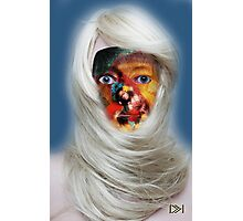 mask fantasy in blonde Photographic Print