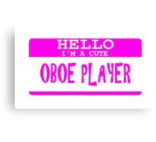 Oboe Canvas Print