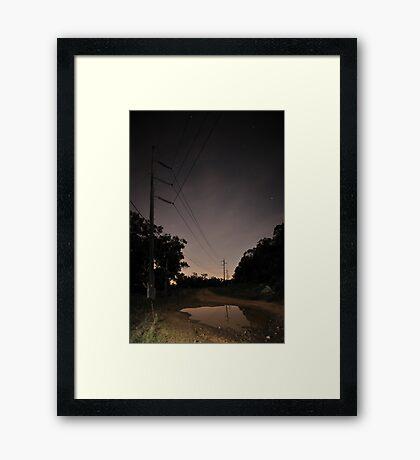 Distant Glow Framed Print