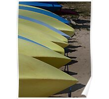 Yellow canoes Poster