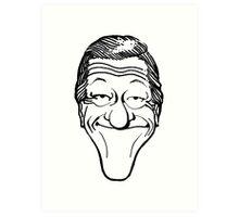 Vintage Dick Van Dyke Caricature Art Print