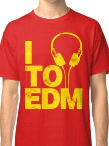 I Listen to EDM (yellow) Classic T-Shirt