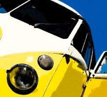 Yellow Splitscreen Drawing by Joe Stallard