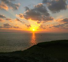 Sunset at Nash point 2 by Amanda Clegg