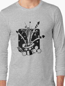 American Symbols, Flag Hat Fireworks-Gray T-Shirt