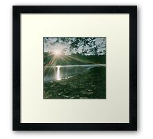 never look into the sun Framed Print