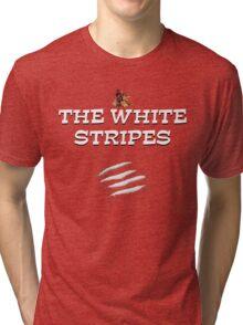 the white stripes Tri-blend T-Shirt
