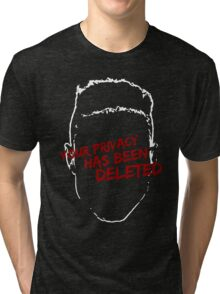 privacy has been deleted Tri-blend T-Shirt