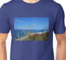 Overlooking the Beach and the Sea Unisex T-Shirt