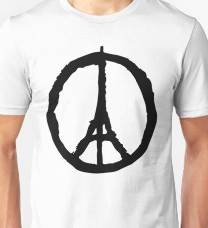 Peace for Paris - black - paix pour Paris - Pray Unisex T-Shirt