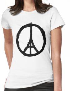 Peace for Paris - black - paix pour Paris - Pray Womens Fitted T-Shirt