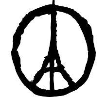 Peace for Paris - black - paix pour Paris - Pray Photographic Print