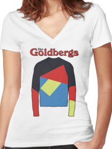 the goldbergs Women's Fitted V-Neck T-Shirt