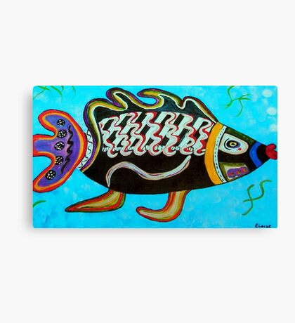 "BANDIT - the fish that ""resurfaced"" from the flames Canvas Print"