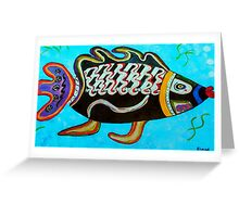 "BANDIT - the fish that ""resurfaced"" from the flames Greeting Card"