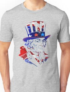 Patriotic Portrait -USA Flag-Stars & Stripes Unisex T-Shirt