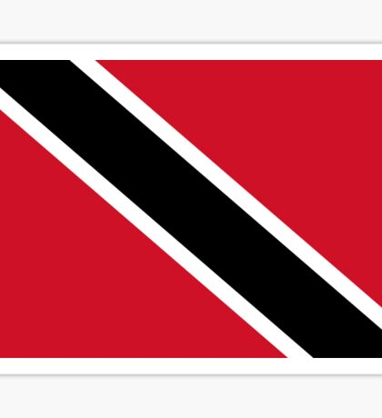 Trinidad and Tobago National Flag T-Shirt Stickers Sticker