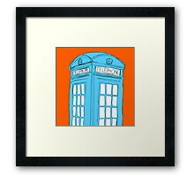 Neon Telephone Box Framed Print