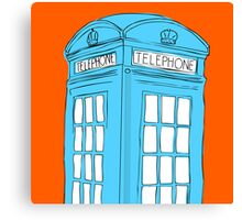 Neon Telephone Box Canvas Print