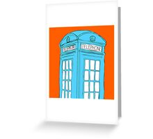 Neon Telephone Box Greeting Card