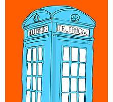 Neon Telephone Box Photographic Print