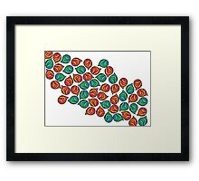 Coloured Pebbles Framed Print