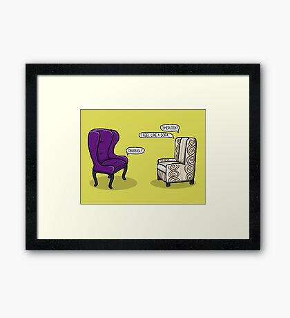 Consulting Armchair and Army Upholstery Framed Print