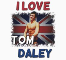 I Love Tom Daley T-Shirt by 4ogo Design