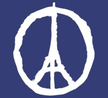 Peace for Paris - white - paix pour Paris - Pray by welikestuff