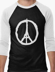 Peace for Paris - white - paix pour Paris - Pray Men's Baseball ¾ T-Shirt