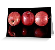 Red Apples in Colour Pencils Greeting Card