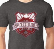 Vancouver Canada red grunge shield Unisex T-Shirt