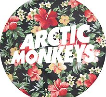 Arctic Monkeys Floral  by Valladoli