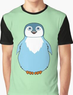 Light Blue Baby Penguin Graphic T-Shirt