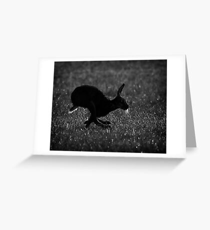 Hare Silhouette Greeting Card