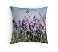 Vintage Lavender Throw Pillow