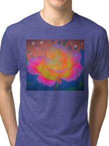Rose color blast Tri-blend T-Shirt