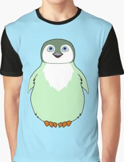 Light Green Baby Penguin Graphic T-Shirt