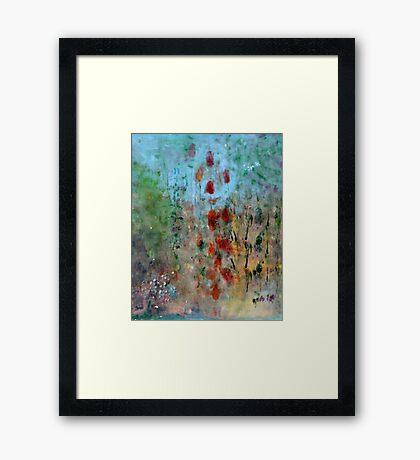 garden observation in blue I Framed Print