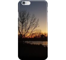Sunset on the Pond iPhone Case/Skin