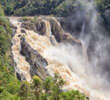 Raging water fall in the tropics Sticker