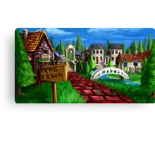 RPG Town Canvas Print