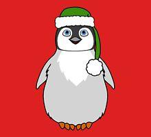 Christmas Penguin with Green Santa Hat T-Shirt