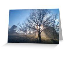 Breaking Fog Greeting Card