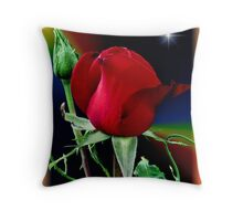 A Rose and a Star Throw Pillow