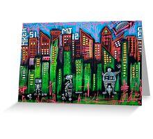 Robo World - City of Secrets Greeting Card