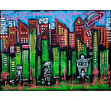 Robo World - City of Secrets Photographic Print