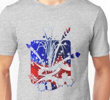 USA Flag And Celebration Symbols Unisex T-Shirt