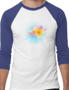 Abstract flower Men's Baseball ¾ T-Shirt
