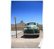 Route 66 - Old Green Chevy Poster